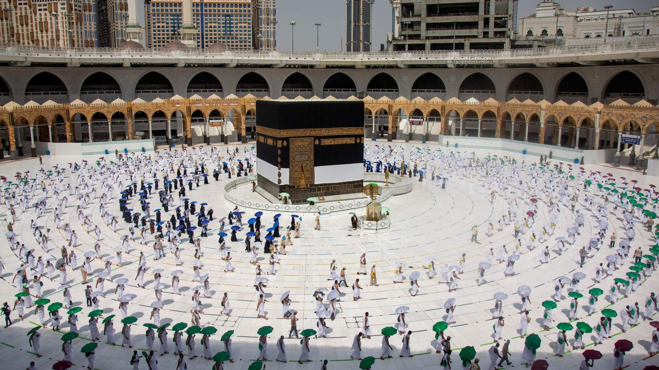2 ارب مسلمانوں میں سے 60 ہزار خوش نصیب مسلمان اس سال فریضہ حج ادا کررہے ہیں