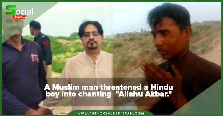 """A Muslim man threateneda Hindu boy into chanting""""Allahu Akbar."""""""