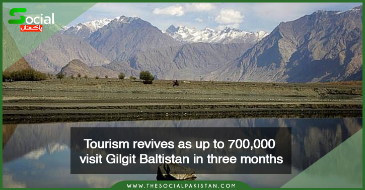 Over the course of three months, up to 700,000 tourists visit Gilgit Baltistan.