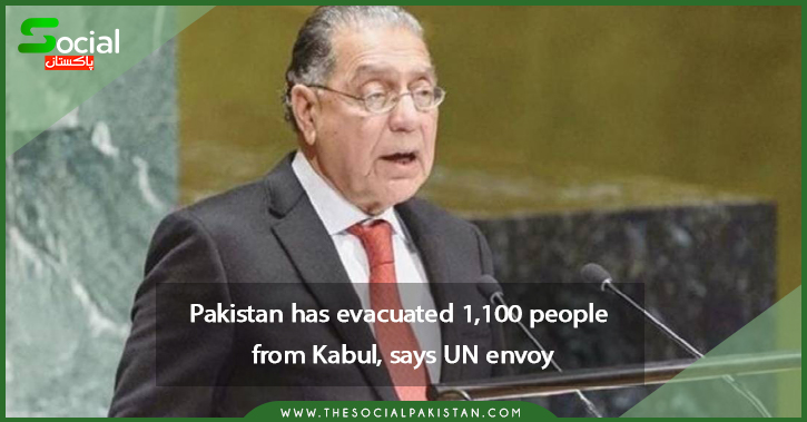 UN ambassador says Pakistan has evacuated 1,100 people from Kabul.