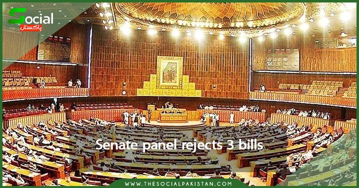 Senate panel rejects 3 bills