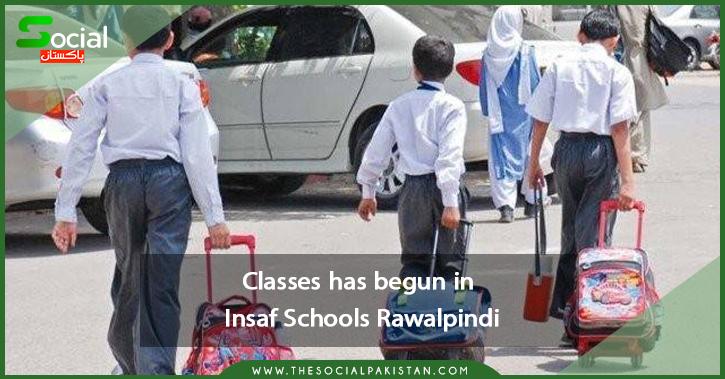 Classes in Insaf Schools begin: Rawalpindi