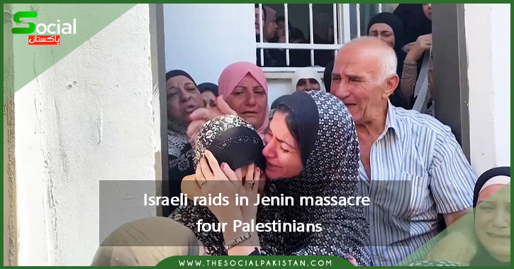 Israeli raids in Jenin massacre four Palestinians