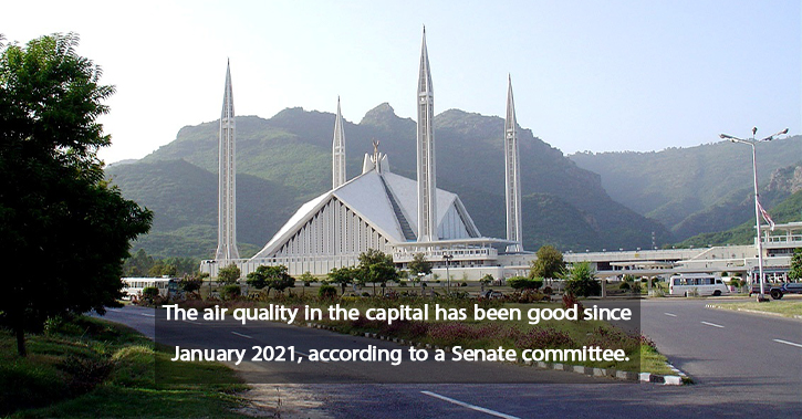 Since January, the air quality has been considered good.