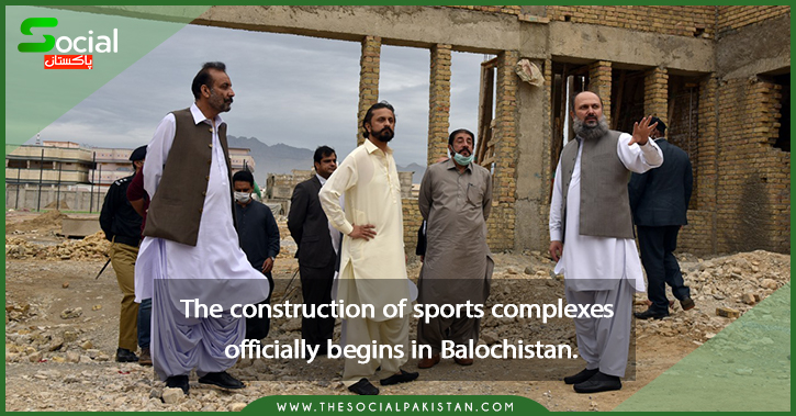 The construction of sports complexes officially begins.