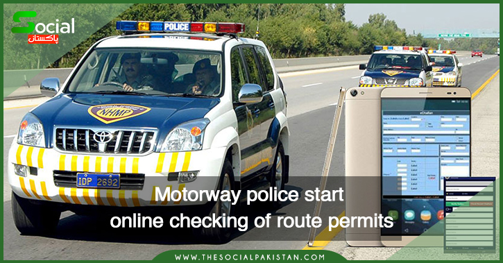 Motorway police start online checking of route permits