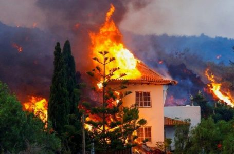 Lava Engulfs Homes in the Canary Islands