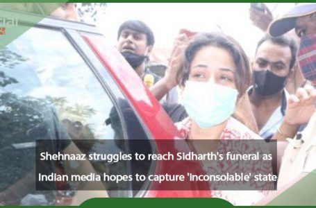 Shehnaaz is struggling to get to Sidharth's funeral as Indian media attempts to capture the 'inconsolable' state