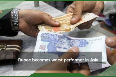 In Asia, the rupee has become the weakest performer.